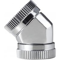 Phanteks 12mm Hard Tube Adapter 45 Mirror Chrome