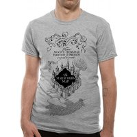Harry Potter - Marauders Map Men's Small T-Shirt - Grey