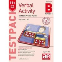 11+ Verbal Activity Year 5-7 Testpack B Papers 5-8 : CEM Style Practice Papers