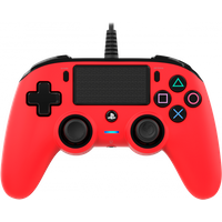 Nacon Compact Wired Controller (Red) PS4