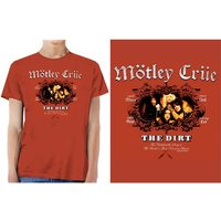 Motley Crue - The Dirt Men's Small T-Shirt - Vintage Red