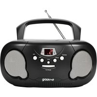 Groov-e GVPS733BK Original Boombox Portable CD Player with Radio Black UK Plug