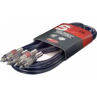 Stagg Twin RCA Male -RCA Male Cable 3m