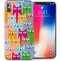 CASEFLEX APPLE IPHONE X CAT PATTERN CASE / COVER (3D)