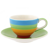 Rainbow Espresso Cup And Saucer Pack Of 4