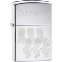 Zippo Guinness Toucans Outline High Polish Chrome Finish Windproof Lighter