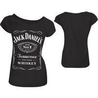 Jack Daniels Classic Old No.7 Brand Logo Women's Skinny Medium Black T-Shirt