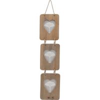 Driftwood Triple Frame With Heart