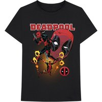 Marvel Comics - Deadpool Collage 2 Men's X-Large T-Shirt - Black