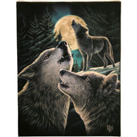 Large Wolf Song Canvas Picture by Lisa Parker