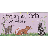 Contented Cats Live Here Pack Of 12