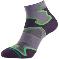 1000 Mile Fusion Sock Ladies Grey/black/green - Small