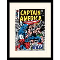 Captain America - CAP Goes Wild Mounted & Framed 30 x 40cm Print