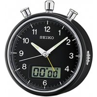 Seiko Stopwatch and Countdown Alarm Clock Black