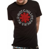 Red Hot Chili Peppers - Distressed Asterisk Men's Large T-Shirt - Black