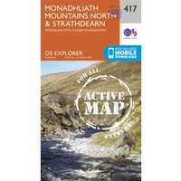 Monadhliath Mountains North and Strathdearn by Ordnance Survey (Sheet map, folded, 2015)