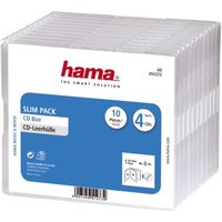 Hama Slim CD Jewel Case, pack 4, pack of 10, transparent