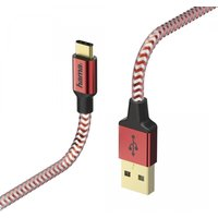 Hama Reflective Charging/Data Cable, Micro-USB, 1.5 m, red