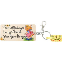 Pack of 6 You Will Always Be My Friend Key Rings