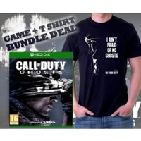 Call Of Duty Ghosts Game & Do Your Duty Black T-Shirt Large Xbox One