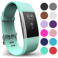 'Yousave Fitbit Charge 2 Strap Single (small) - Mint Green