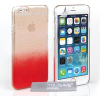YouSave Accessories iPhone 6 / 6s Raindrop Hard Case - Red/Clear