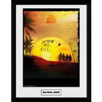 Full Metal Jacket Born To Kill Framed Collector Print