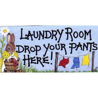 Laundry Room: Drop Your Pants Here Pack Of 12