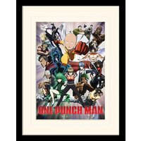 One Punch Man - Heroes And Villains Mounted & Framed 30 x 40cm Print