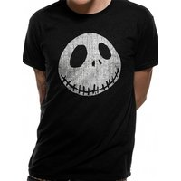 Nightmare Before Christmas - Jack Cracked Face Men's Small T-Shirt - Black