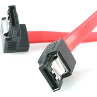 12in Latching SATA to Right Angle SATA Serial ATA Cable