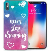 CASEFLEX APPLE IPHONE X NEVER STOP DREAMING CASE / COVER (3D)