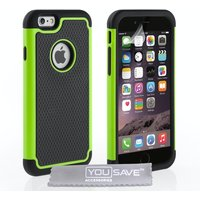YouSave Accessories iPhone 6 / 6s Grip Combo Case - Green/Black