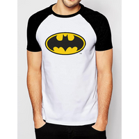 Batman - Logo Men's X-Large Raglan T-Shirt - White