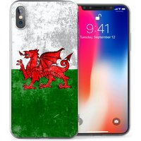 CASEFLEX APPLE IPHONE X RETRO WALES FLAG CASE / COVER (3D)