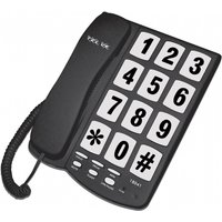Tel UK Big Button Telephone New Yorker Black