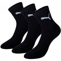 Puma Short Crew Socks Black UK Size 6-8 Pack of 3