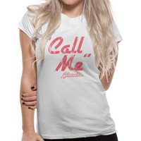 Blondie - Call Me Women's Medium T-Shirt - White