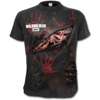 Daryl - All Infected The Walking Dead Men's XX-Large Ripped T-Shirt - Black
