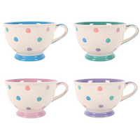 Polka Splodge Teacup Pack Of 4