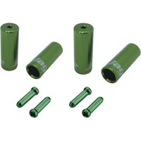 Jagwire Brake/Gear Universal Pro End Cap Packs (For Braided Housing) Green 4.5/5mm