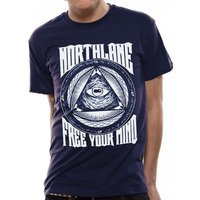 Northlane - Free Your Mind Men's Medium T-Shirt - Blue
