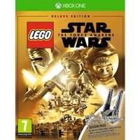 Lego Star Wars The Force Awakens Deluxe Edition Xbox One Game (Kylo Ren Shuttle Figure)