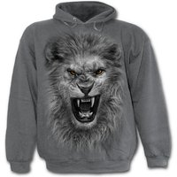 Tribal Lion Men's Large Hoodie - Charcoal Grey