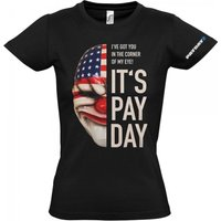 PAYDAY 2 Women's Dallas Mask Extra Large T-Shirt, Black