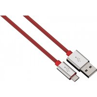 Charging/Sync Cable Micro USB Aluminium 1m (Red)
