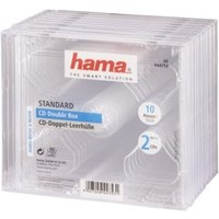 Hama Standard CD Double Jewel Case, pack of 10, transparent