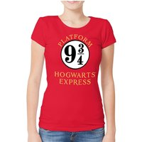 Harry Potter - 9 And 3 Quarters Women's Medium Fitted T-shirt - Red