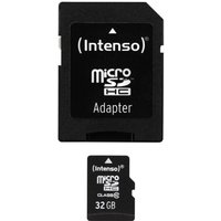 Intenso 3413480 32GB Class 10 Micro SD Card SD Adapter