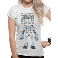 Rick And Morty - Snowball Women's X-Large T-Shirt - White